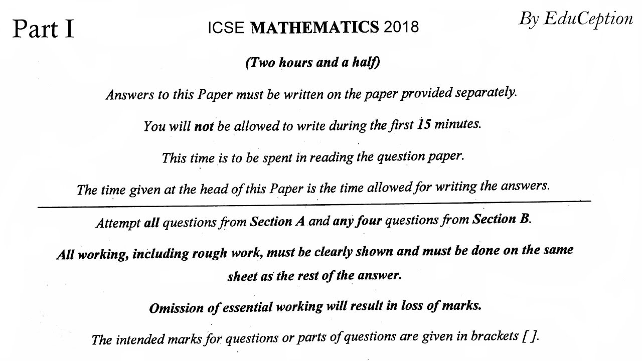 ICSE BOARD QUESTION PAPERS 2014 PDF