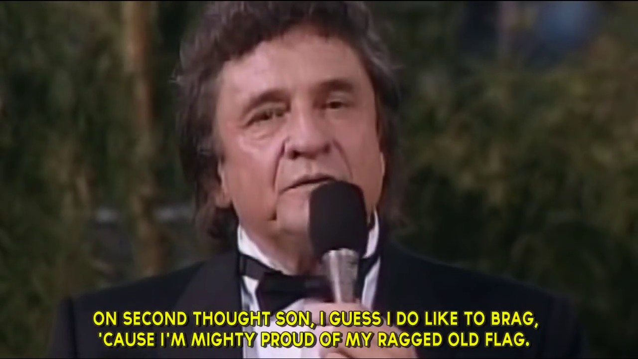 15 Ragged Old Flag By Johnny Cash Live Performance W Subtitles