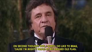 "#15 ""Ragged Old Flag"" by Johnny Cash (Live Performance) w/ Subtitles"