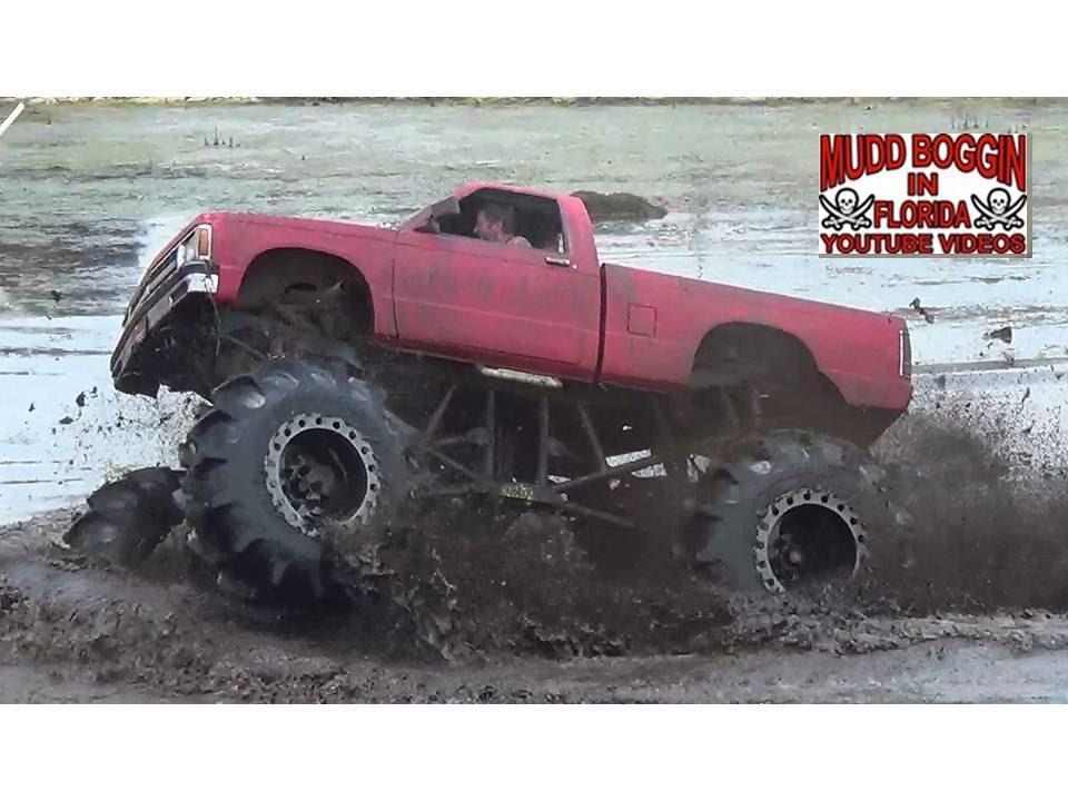 S 10 Mega Truck Mud Life Crisis Skims Bounty Hole Youtube