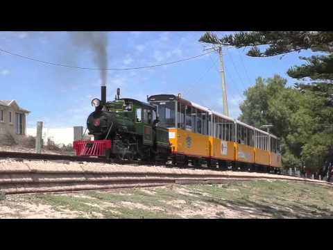 Semaphore Steam Train from the line side 1080p HD