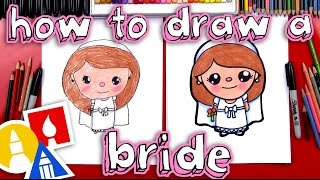 How To Draw A Cartoon Bride