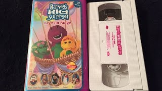 opening closing to barney s big surprise 2000 vhs