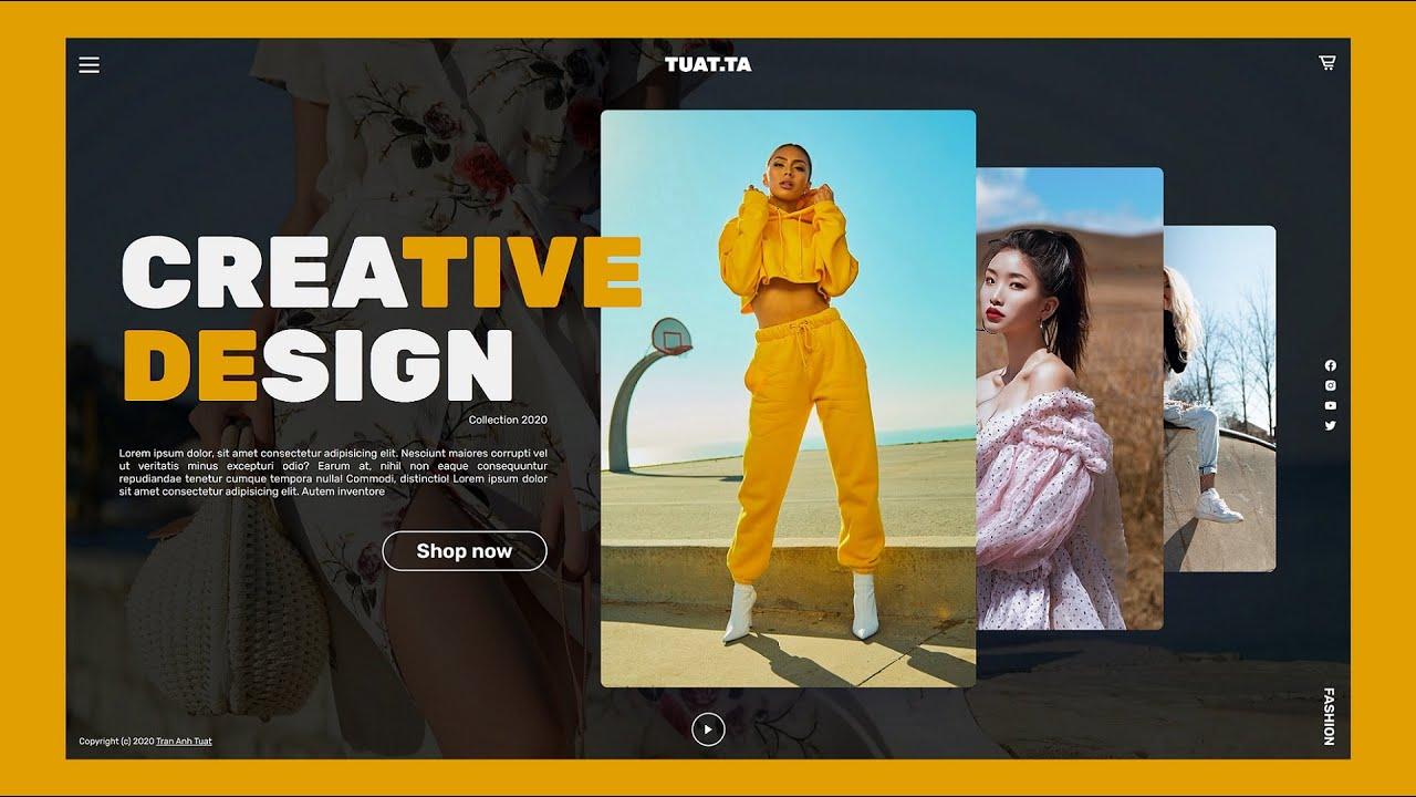 Responsive Landing Page Using HTML CSS & JavaScript   Responsive Fashion Web Design