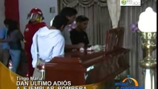Capitana del Cuerpo de Bomberos fue recibida con honores en Tingo María