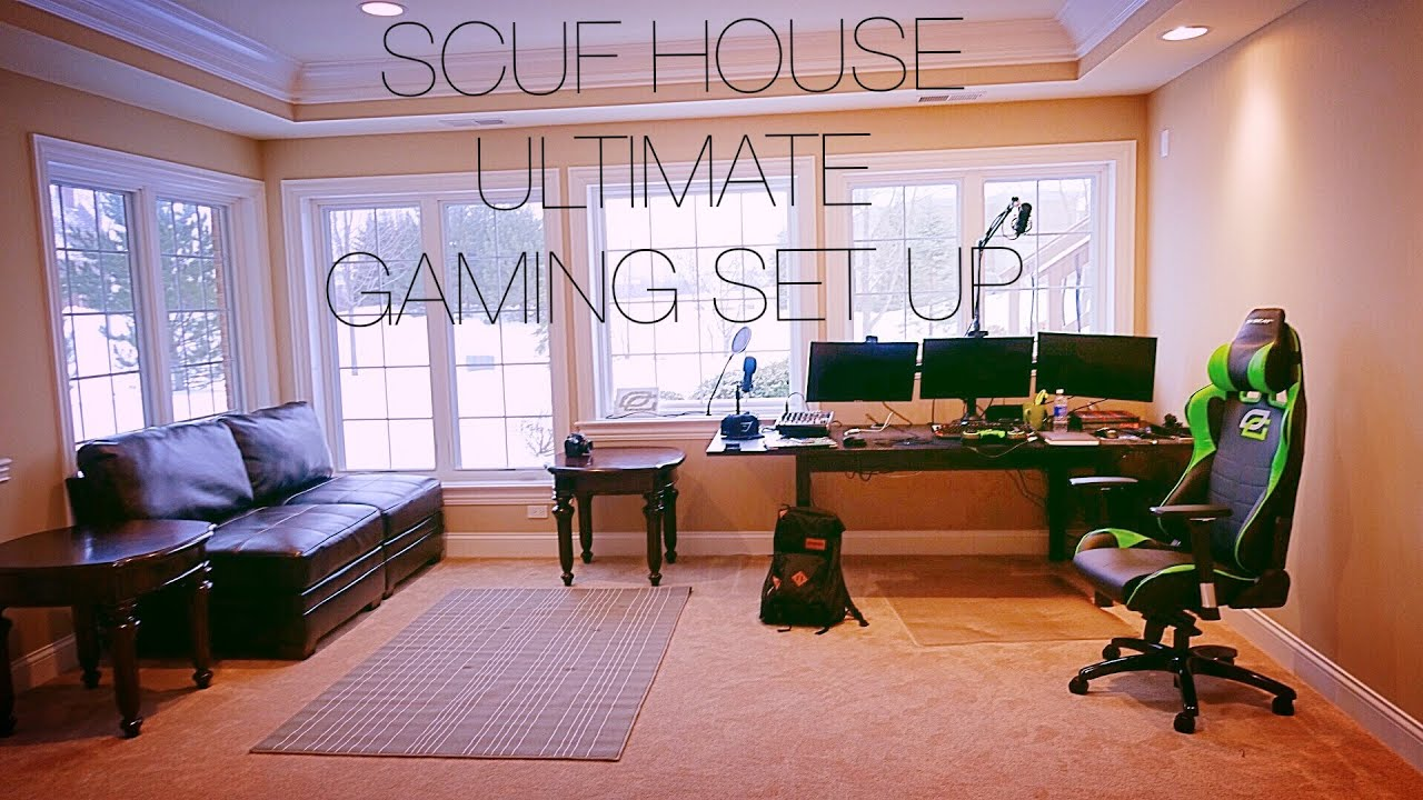 My Scuf House Gaming Set Up With Links Youtube