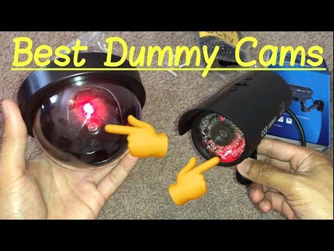 ✅Best Dummy Fake Security Cameras with 🔴 Red LED Flashing Lights & Video Surveillance Signs Review