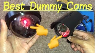 🔴Best Dummy Fake Security Cameras with Red LED Flashing Lights & Video Surveillance Signs Review
