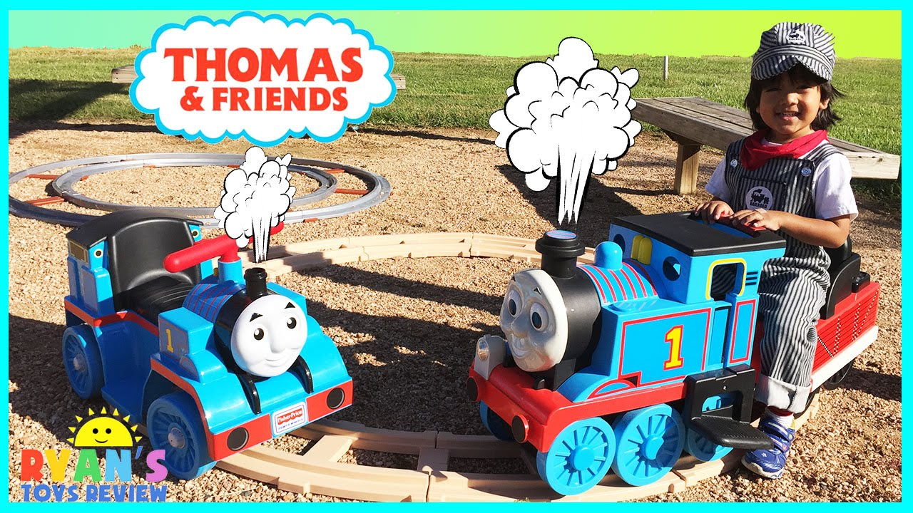 & Thomas The Tank Engine Power Wheels Ride On Train for kids - YouTube