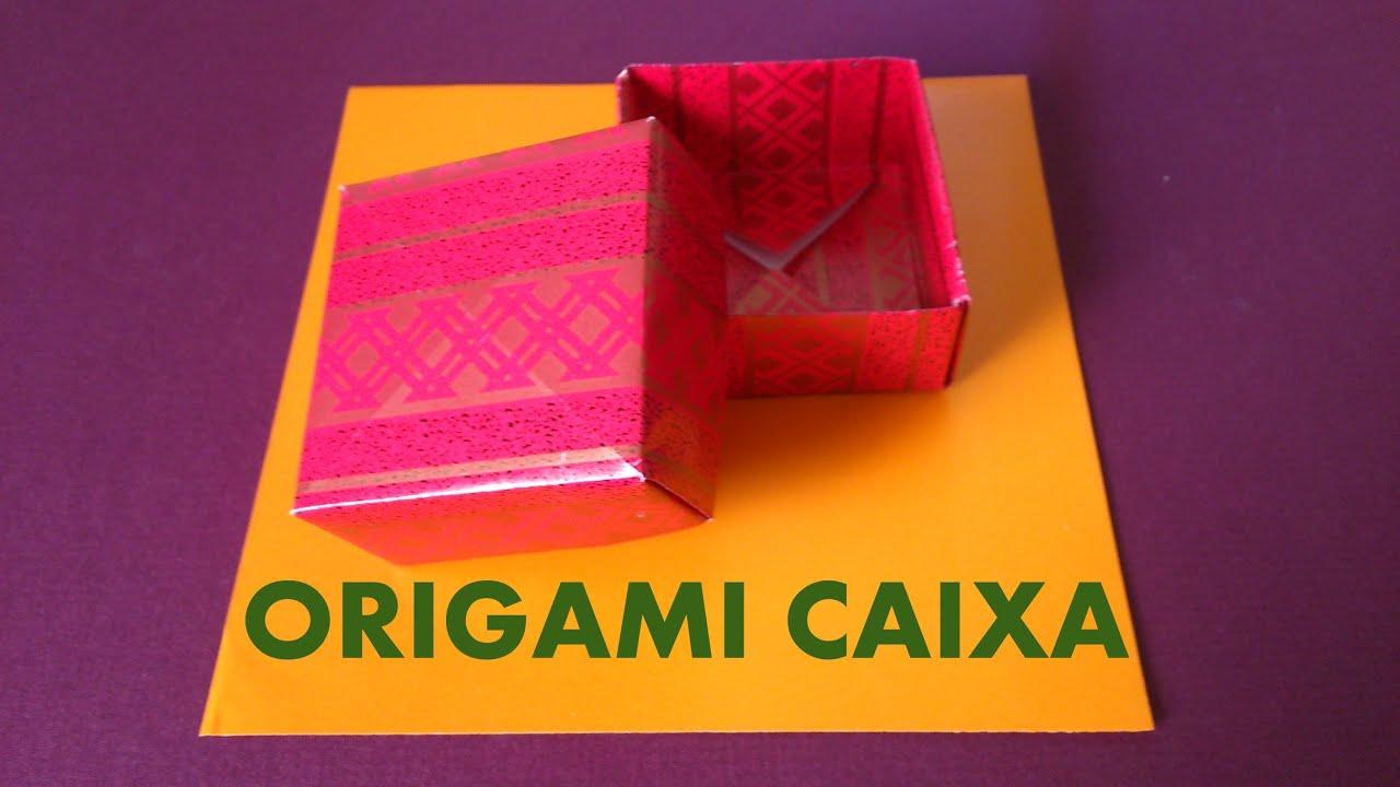 Como Desenhar Coisa Amorosa: Como Fazer Uma CAIXA De Presente De Origami
