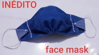 Máscara Anatômica Franzida e Plissada e é Costurada à Mão