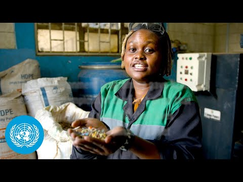 Plastic bricks in Kenya – Nzambi Matee - Young Champion of the Earth 2020