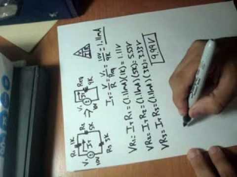 Circuito Serie : Cálculo de voltajes y corrientes en un circuito serie youtube