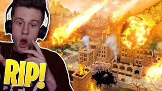 TILTED TOWERS *AFTER* BEING DESTROYED!! - FORTNITE Tilted Towers METEOR SHOWER Map!
