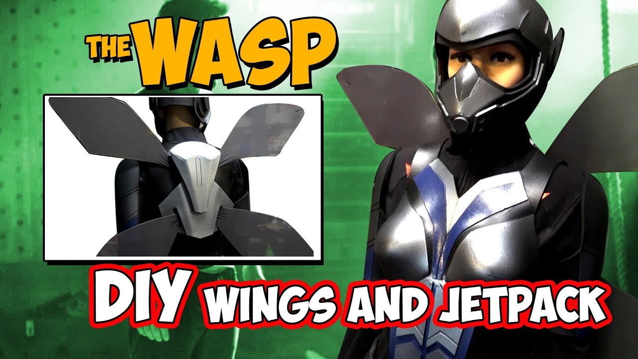 how to make The Wasp wings for cosplay costume Antman and the Wasp