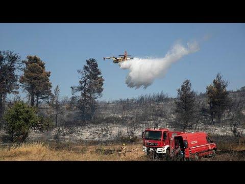 Yunanistan'da orman yangınları: 58 noktada yangın çıktı, beş köy boşaltıldı