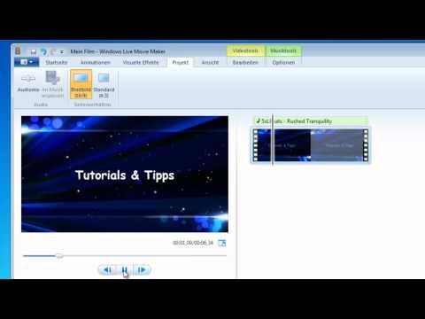 Tutorial: Windows Movie Maker - Musik Anpassen - (Projekte) [German/Deutsch]