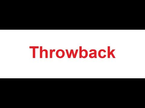 Throwback meaning in Hindi