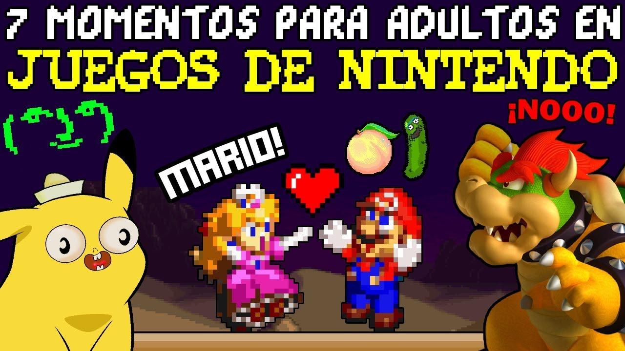 7 Chistes para ADULTOS en Videojuegos de Nintendo 🔞 (que NO Entendiste de Niño)