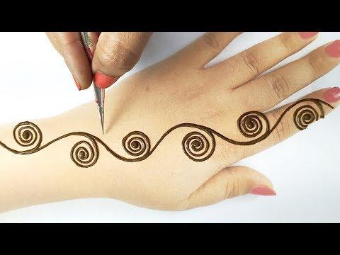 Karwa Chauth Mehndi 2020   Easy Mehandi Design for HandsII आसान राखी स्पेशल मेहँदी    Beautyzing