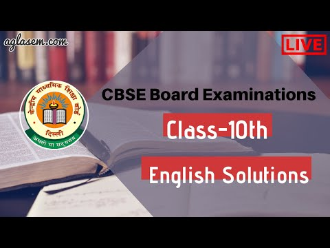 CBSE Class10 English Board Exam 2020 Live Solutions