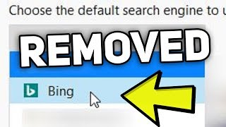 How to remove Bing Search Engine on Firefox