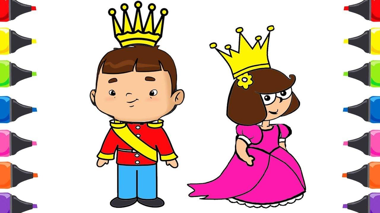 Ozi Trt çocuk Mualla Prens Prenses Boyama Renkleri öğreniyorum Youtube