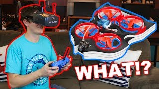 Brushless Transforming HoverCraft Race Drone 5.8 Ghz FPV - Eachine Vwhoop90 - TheRcSaylors