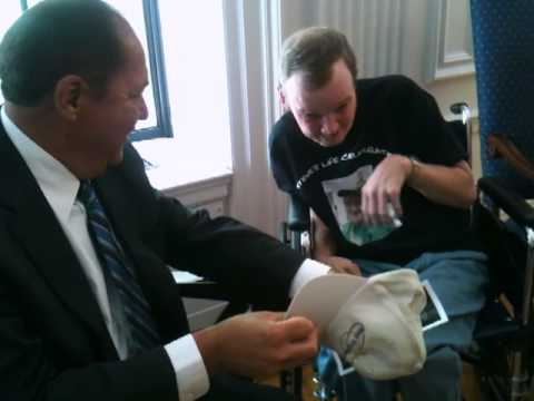 Steve Morgan meets Gov. Earl Ray Tomblin