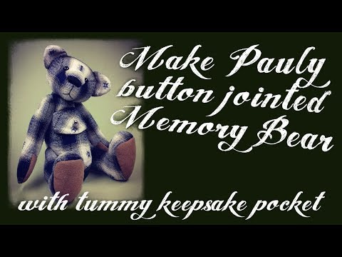 Button Jointed Memory Bear Making Project - part 1 - Cutting out - Alice's Bear Shop