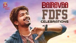 Bairavaa FDFS Celebrations | Bairavaa Fans Celebration at Kasi Theatre | Vijay | Thamizh Padam