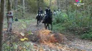Hubertus i pogoń po lesie