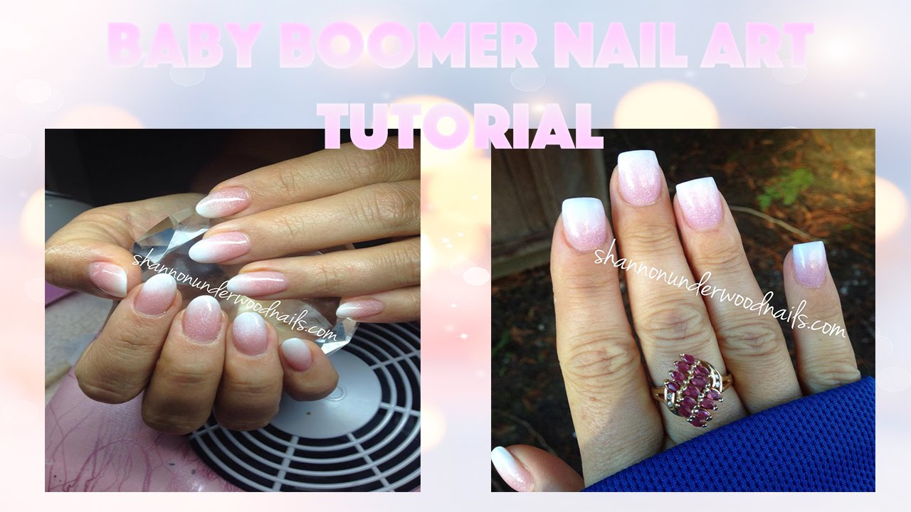 Baby Boomer French Nails | Acrylic, Hard Gel & Gel Polish - YouTube