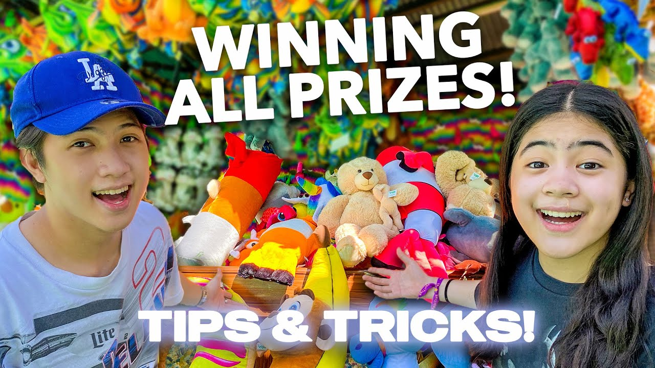 We WON Every PRIZE At A Theme Park!!! (Unlimited PLAY!) | Ranz and Niana