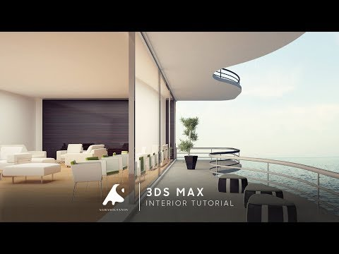 3D Max Interior Modern Design Restaurant Vray+Photoshop 2016