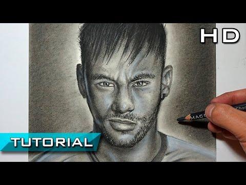 Cómo Dibujar A Neymar Jr Paso A Paso A Lápiz Carboncillo - Versión Extendida Tutorial