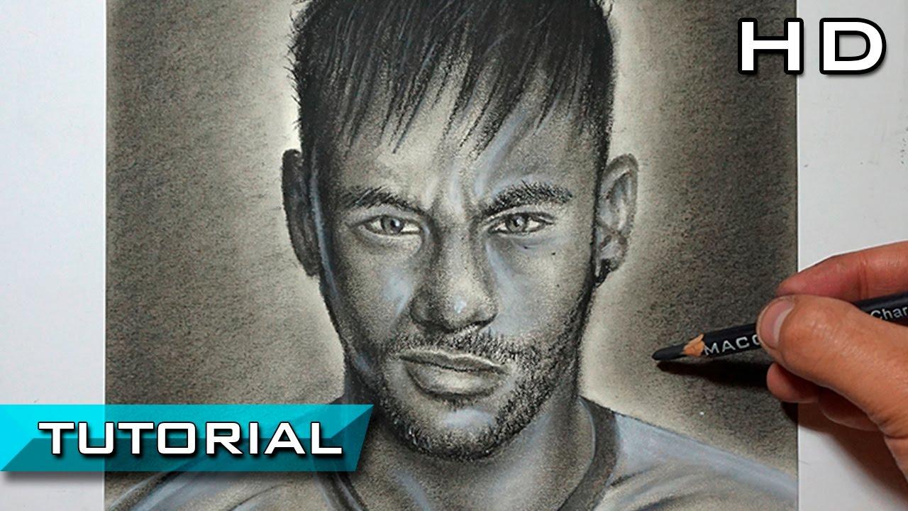 Cmo Dibujar a Neymar Jr Paso a Paso a Lpiz Carboncillo  Versin