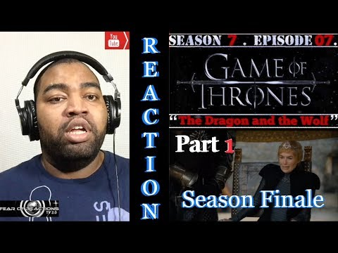 "Game of Thrones 7x07 ""The Dragon and the Wolf"" (Season Finale Pt. 1/2) REACTION"