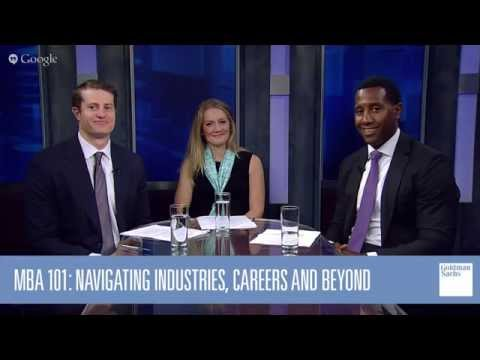 MBA 101: Navigating Industries, Careers and Beyond: Google Hangout