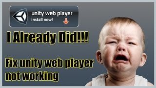 How To Fix/ turn on Unity Web Player Not Working after installing (Patched) :(