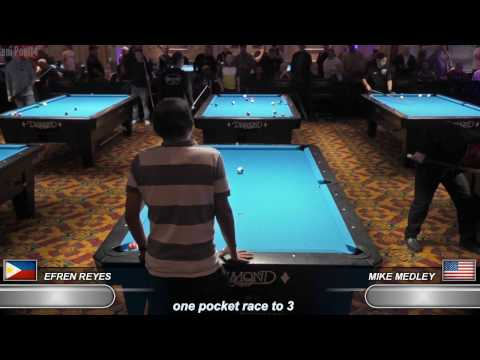 Efren Reyes New 2017 Match !!! v Mike Medley ᴴᴰ 2017 Derby City Classic One-Pocket R4