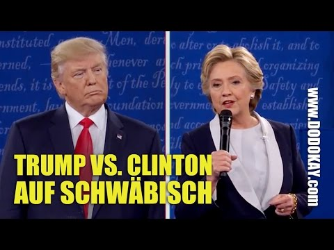 dodokay - Donald Trump und Hillary Clinton - Wahldebatte Sch