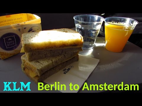 TRIP REPORT | KLM | Berlin Tegel to Amsterdam | Economy Class (More Leg Room) | 737-800 [Full HD]