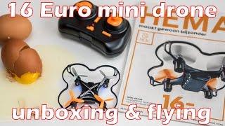 16 Euro HEMA nano drone, bargain or waste of money? Unboxing, flying, crashing
