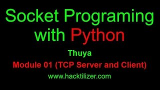 Module 01 TCP Server And Client Communication (Socket Programming With Python)
