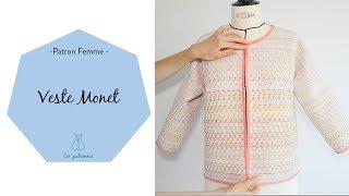 Réalisez le patron de la veste Monet : https://www.lespatronnes.fr/produit/veste-monet/ accompagné en vidéo étape par étape pour coudre à votre rythme !