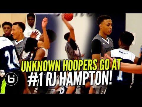UNKNOWN HOOPERS GO AT #1 RJ HAMPTON! AAU Season OFFICIALLY KICKS OFF! Ballislife Highlights