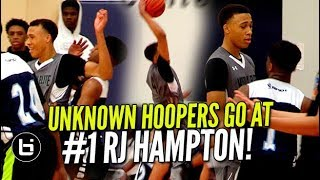 UNKNOWN HOOPERS GO AT #1 RJ HAMPTON! AA...
