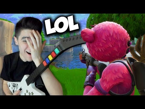 Playing Fortnite with a GUITAR HERO Controller