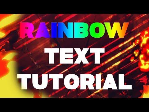 RAINBOW TEXT TUTORIAL FOR PAINT.NET 2018